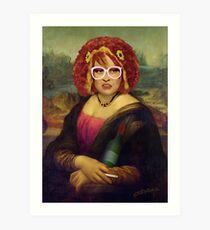 Moaner Linda (No Gold Frame) Art Print