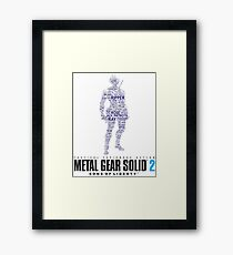 Metal Gear Solid 2 - Sons of Liberty - Raiden Typography  Framed Print