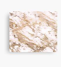 Golden smudge - blush marble Metal Print