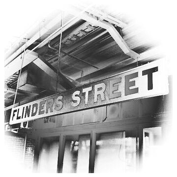 Flinders Street Station Melbourne City Graphic by justanerd