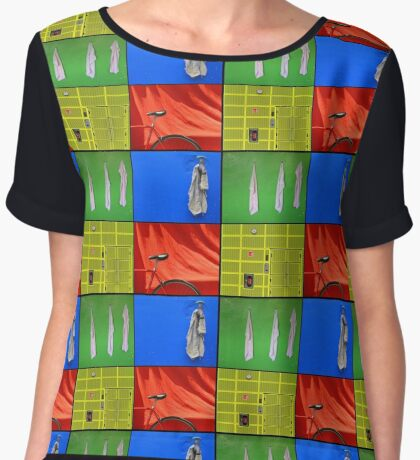 Just the Colours Please Women's Chiffon Top