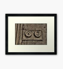 One On, One Off Framed Print