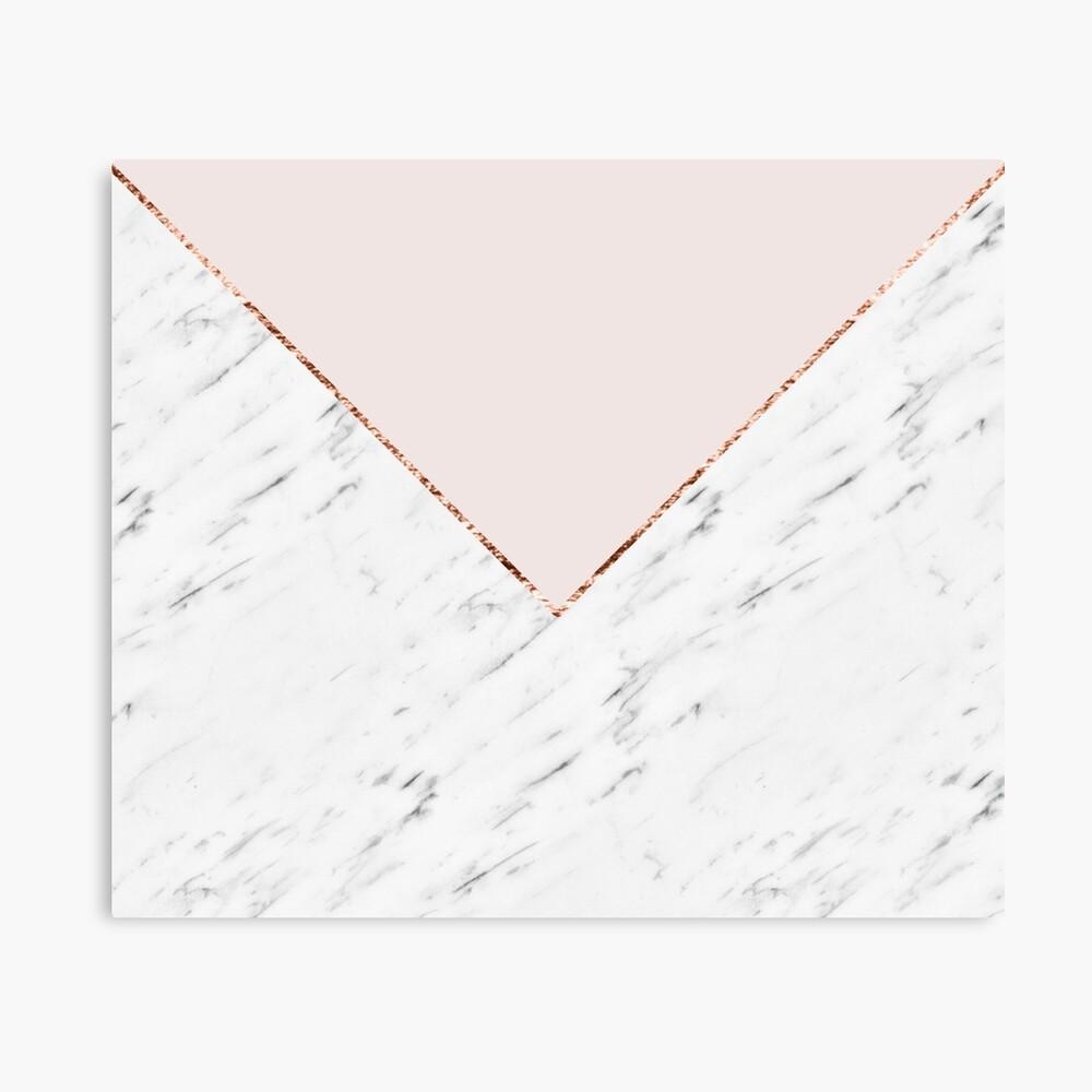 Pfingstrose errötet geometrischen Marmor Leinwanddruck