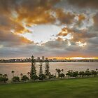 Swan River Sunset, Perth, Western Australia by Elaine Teague