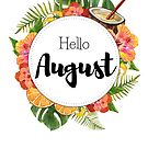 Hello August - monthly cover for planners, bullet journals by vasylissa