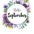 Hello September - monthly cover for planners, bullet journals by vasylissa