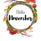 Hello November - monthly cover for planners, bullet journals by vasylissa
