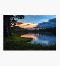 Dreaming sunset at Juanita Lake California Photographic Print