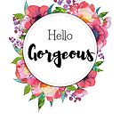 Hello Gorgeous - peonies flowers watercolor design by vasylissa