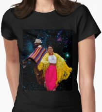 Dancing In The  Starlight Womens Fitted T-Shirt
