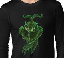 Inverted Grinch Christmas Drawing Long Sleeve T-Shirt