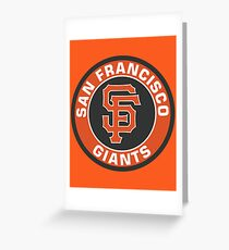 San Francisco Giants Baseball Club MLB Greeting Card