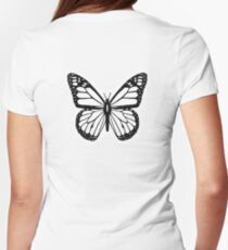 Butterfly, Black and White Butterfly T-Shirt