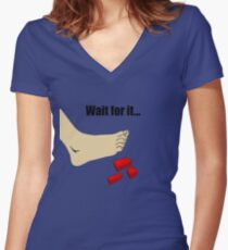 Wait for It - Lego Pain is Real Women's Fitted V-Neck T-Shirt