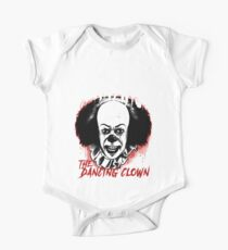 pennywise the dancing clown Classic Horror Movie Character Evil and Scary Metal Band Style Tee Kids Clothes
