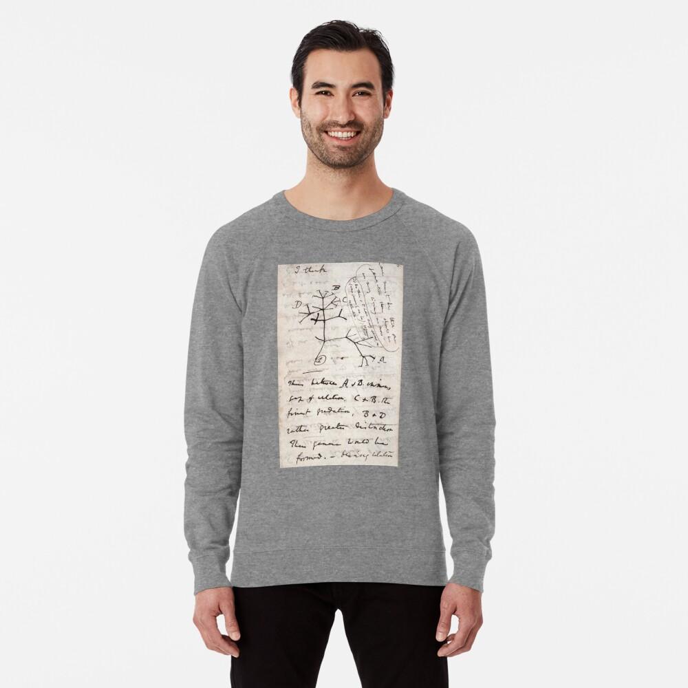 Ich denke - Charles Darwin 1 Leichter Pullover