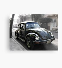 Black VW Bug  - Side View 2 Metal Print