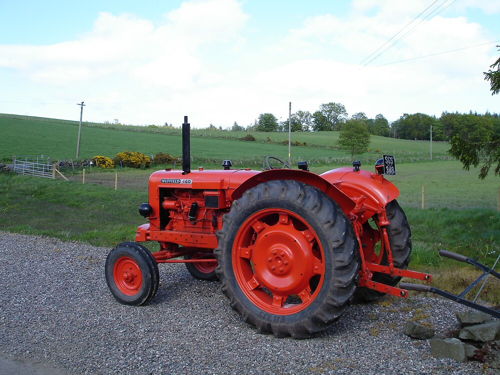 old red tractor  by flower7027