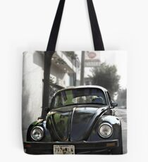 Black VW Bug  - Front View Tote Bag