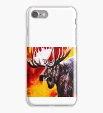 I'm No Bambi Bull Moose Powerful Majestic Wildlife Rack Point Cabin Elk Red Yellow Fire Power Strong Nature Hunting Hunt Sportsman Hunter Rocky Mountains iPhone Case/Skin