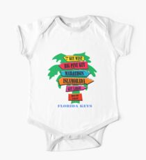 Florida Keys Short Sleeve Baby One-Piece