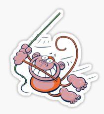 swinging monkey Sticker
