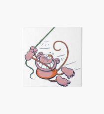 swinging monkey Art Board