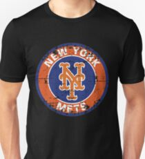 New York Mets Baseball Club-Distressed T-Shirt