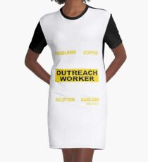 OUTREACH WORKER Graphic T-Shirt Dress