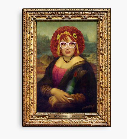 Moaner Linda (Gold Frame) Canvas Print
