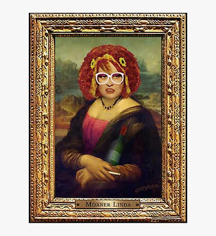 Moaner Linda (Gold Frame) Photographic Print