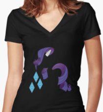 Rarity Women's Fitted V-Neck T-Shirt