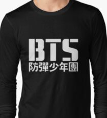 BTS Bangtan Boys Logo/Text 2 Long Sleeve T-Shirt