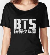 BTS Bangtan Boys Logo/Text 2 Women's Relaxed Fit T-Shirt