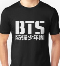 BTS Bangtan Boys Logo / Text 2 Slim Fit T-Shirt