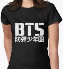BTS Bangtan Boys Logo/Text 2 Women's Fitted T-Shirt