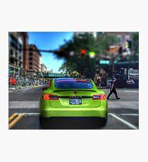 Bright Green Tesla Photographic Print