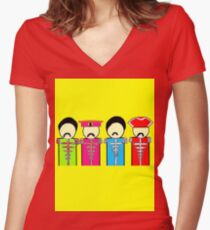 Sgt. Pepper's Lonely Hearts Club Band (The Beatles ) Women's Fitted V-Neck T-Shirt