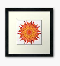 Fluid floral abstraction Framed Print