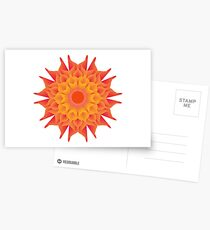 Fluid floral abstraction Postcards