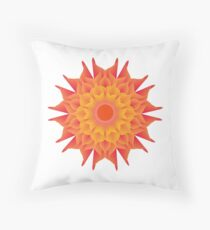Fluid floral abstraction Throw Pillow