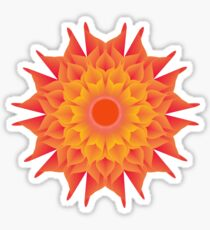 Fluid floral abstraction Sticker