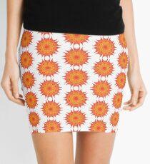 Fluid floral abstraction Mini Skirt