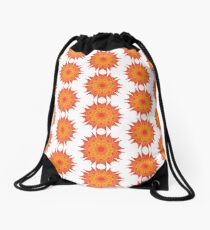 Fluid floral abstraction Drawstring Bag