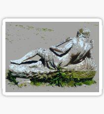 Statue in Villa Adriana Sticker