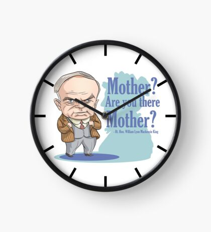 William Lyon MacKenzie King & his mother Clock