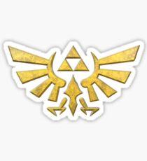 Hylian Crest in Gold Sticker