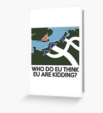 Dad's Army Brexit Greeting Card