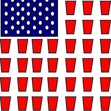 US Flag Beer Pong Drinking Game by tommytidalwave