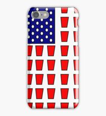 US Flag Beer Pong Drinking Game iPhone Case/Skin